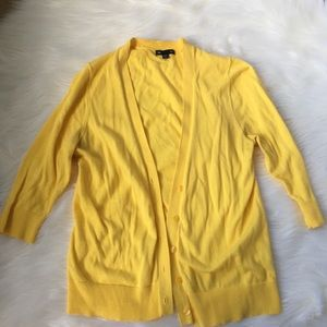 Gap lemon yellow cardigan